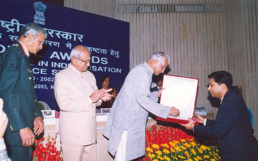 Award for Excellent Performance in Indigenisation of Defence Stores